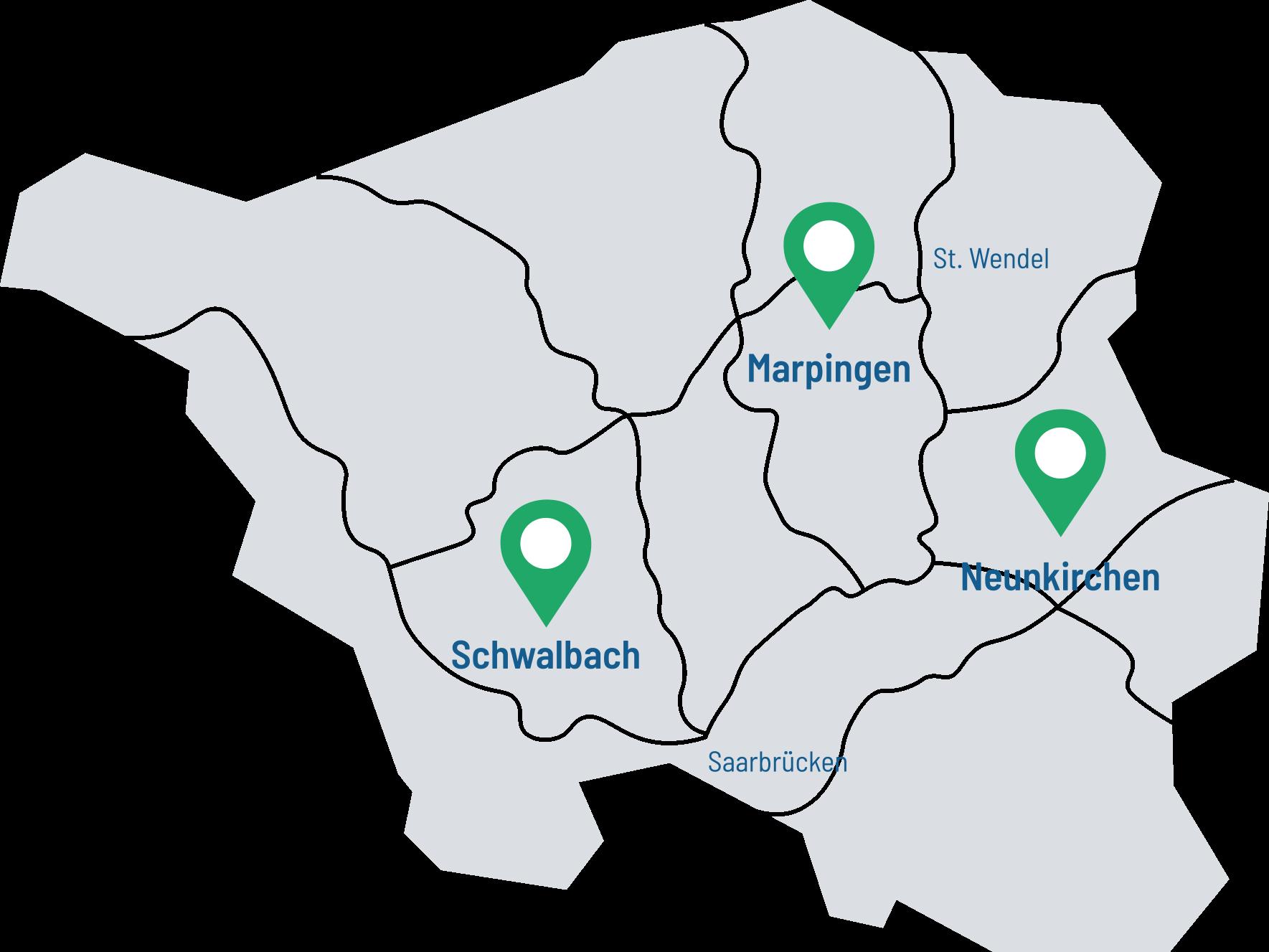 RF-Steuerberatung-Saarlandkarte